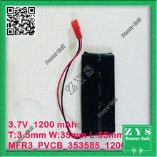 Безопасная упаковка, 2 pin полимерный литий-ионный аккумулятор 3,7 в 353585 могут быть выполнены по индивидуальному заказу CE FCC, аддитивного цветового пространства(паспорт безопасности токсичных веществ сертификация качества
