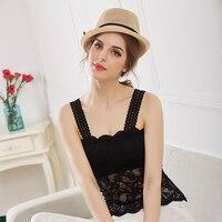 c1d187aa4158c5 ... koszulka bez rękawów kwiat kamizelka gorset Top Tees. Women S Bra Sexy  Lace Cami Bralette Crochet Floral Cami Padded Tank Top Flower Bra Vest