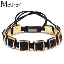 Mcllroy New Brand Fashion Python skin Box Charm Bracelets Popular Classic Braiding Macrame Bracelets For Men Women Bangles(China)