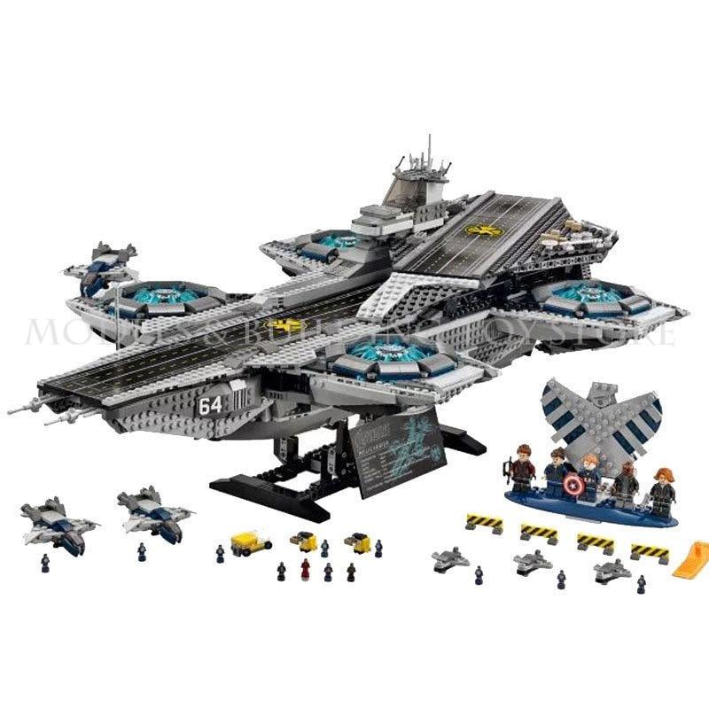 цены L Models Building toy L07043 3057Pcs Shield Helicarrier Blocks Toys Hobbies For Boys Model Building Kits