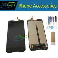 High Quality LCD Display And Touch Screen For Blackview BV5000 Black Color Replacement 1PCS Lot