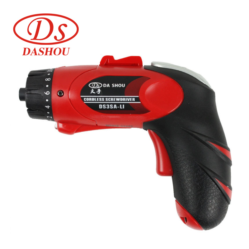 цены DS 3.6v Electric Screwdriver Household Wireless Power Driver DS3SA-L1 Rechargeable Type Drill/Driver Power Gun Tools LED Light
