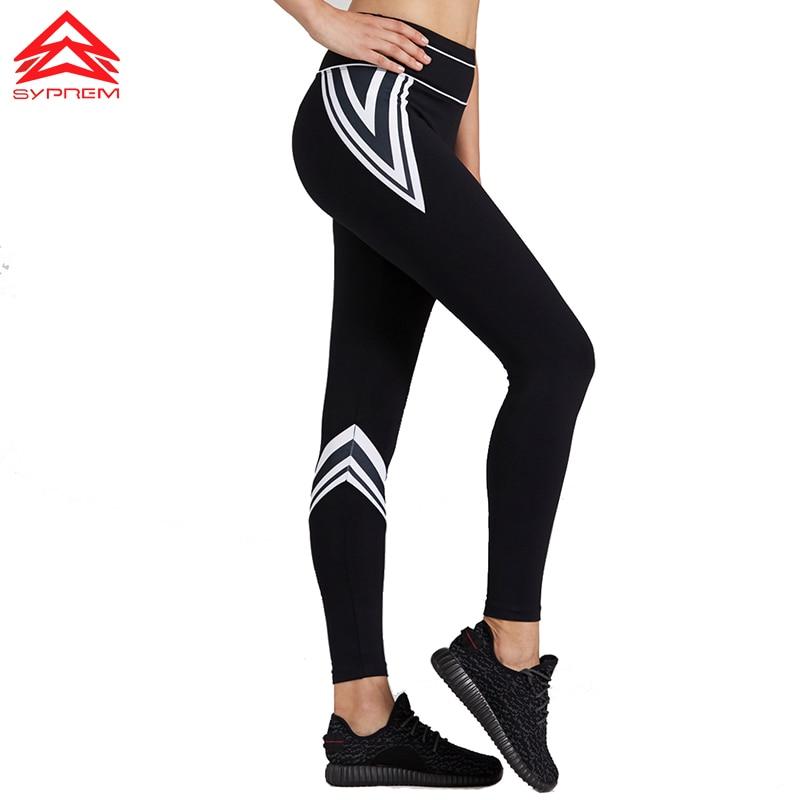 Syprem sportswear 2017 Women Fitness Yoga Pants Slim Running sports Leggings Gym Trousers For Women Sports Pants Female,1FP1112