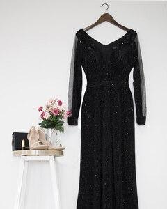 Image 5 - Черное вечернее платье с длинным рукавом Ever Pretty EP07394BK элегантное осеннее длинное вечернее платье Русалочки Robe De Soiree 2020