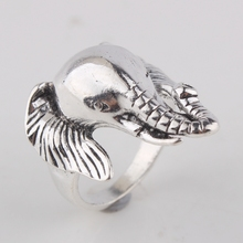 Msyo Elephant Animal Rings For Nen Unique Trendy Retro Vintage 316L Stainless Steel Ring Fashion Jewelry