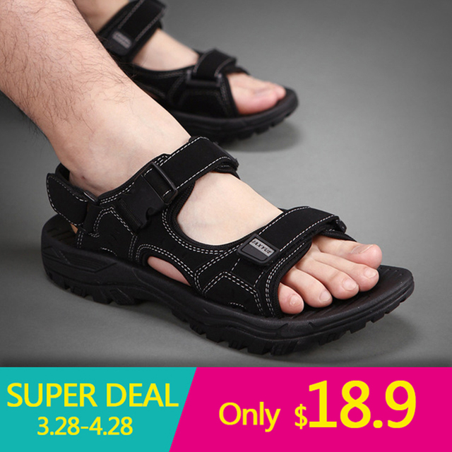 Black Summer Outdoor Men's Sandals Quick-drying Beach Shoes Men Fashion Summer Slippers For Men High Quality Man Shoes Big Size