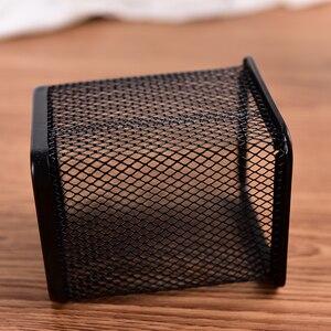 Черная металлическая сетчатая ручка-карандаш, держатель для канцелярских принадлежностей, настольный органайзер, подставка для ручек, офисные аксессуары для хранения