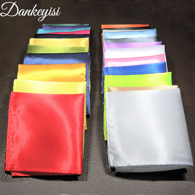 DANKEYISI Wholesale Handkerchief For Bussiness Wedding Solid Color Men's Handkerchief Groomsmen Men Pocket Square Hanky Party