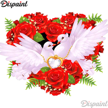 Dispaint Full Square/Round Drill 5D DIY Diamond Painting Pigeon flower scenery 3D Embroidery Cross Stitch 5D Home Decor A11779 a1422 diamond embroidery home decor pigeon 100
