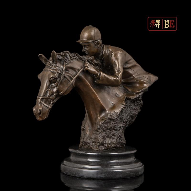 Wo have copper art horse race horse riding club souvenirs collection DS-606
