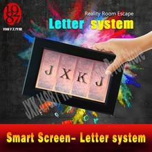 Takagism real life escape zimmer prop alphabet brief system smart screen finden code entsperren adventurer spiel puzzle gerät jxkj1987