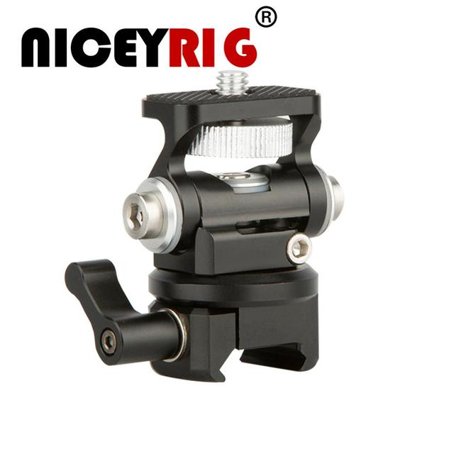NICEYRIG DSLR Camera Field Monitor Holder Mount with NATO Lock Clamp For 5 inch or 7 inch monitor