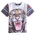 Boys Casual T Shirt 2017 Nova Summer Boys Children Clothing Printed Tiger Boys short t shirt Cotton Boy Clothing