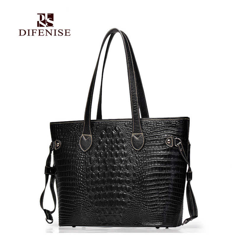 Difenise genuine leather bags for women fashion tote bag women leather handbag shoulder bag large capacity bags handbag aosbos fashion portable insulated canvas lunch bag thermal food picnic lunch bags for women kids men cooler lunch box bag tote