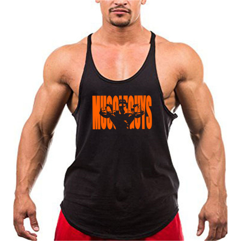 Muscle Guys Gyms Tank Top Men Workout Clothing Bodybuilding Stringer Men Vests Cotton Y Back Singlets Debardeur Fitness Homme