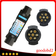 Professional Diagnostic Tool  Vehicle  7Pin  car  Trailer Cable Circuit Plug Socket Tester towing vehicles and trailers caravans