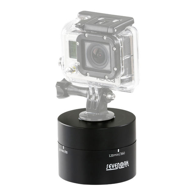 Sevenoak Mechanical Camera Panoramic 360 degree Panning Rotating Drift Head Time Lapse for GoPro IOS iPhone 7 6 SmartPhone DSLR