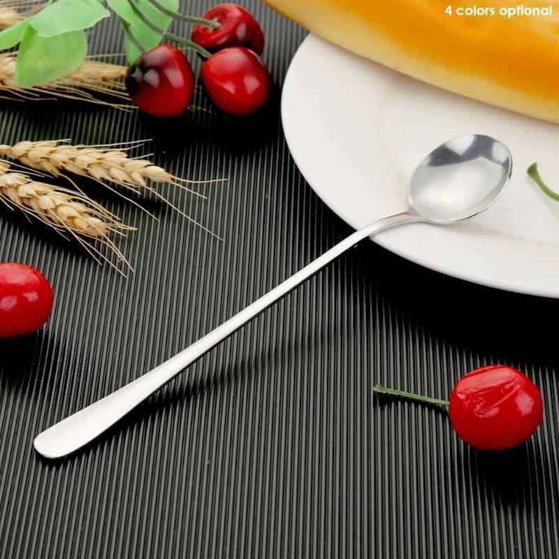 Long Handle Stainless Steel Ice Spoon Coffee Tea Spoons Kitchen Tableware