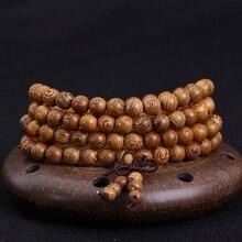 New Vintage Wenge Natural Wood Bracelets for Women Tibetan Buddhist Mala Buddha Bracelets & Bangle Men Jewelry Handmade 108 Bead