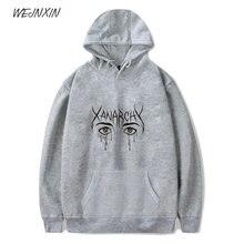 c9180a6af6a0 WEJNXIN Fashion Lil Xan Anarchy Youth Hoodies Hood Female Streetwear For Men  Women Unisex Fleece Sweatshirt