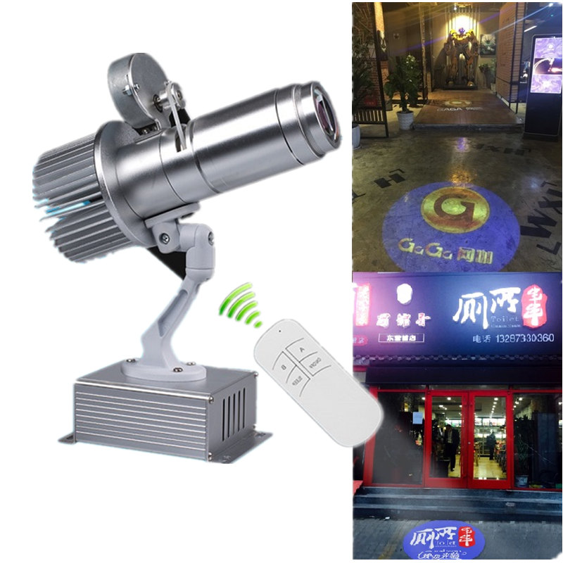 Gobo Projector Remote Control Logo Advertising Commercial Shop Mall Restaurant Project Business LED Light Long Body