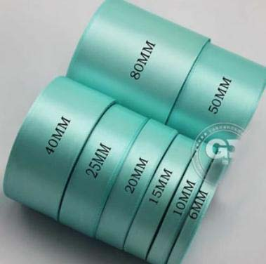 0 6cm width Tiffany wedding decoration ribbons 22yards party decoration ribbons in Party DIY Decorations from Home Garden