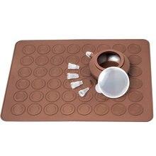 Macarons tapete de silicone para confeitaria, tapete de cozimento de macarrão, de silicone, com 4 peças de bicos