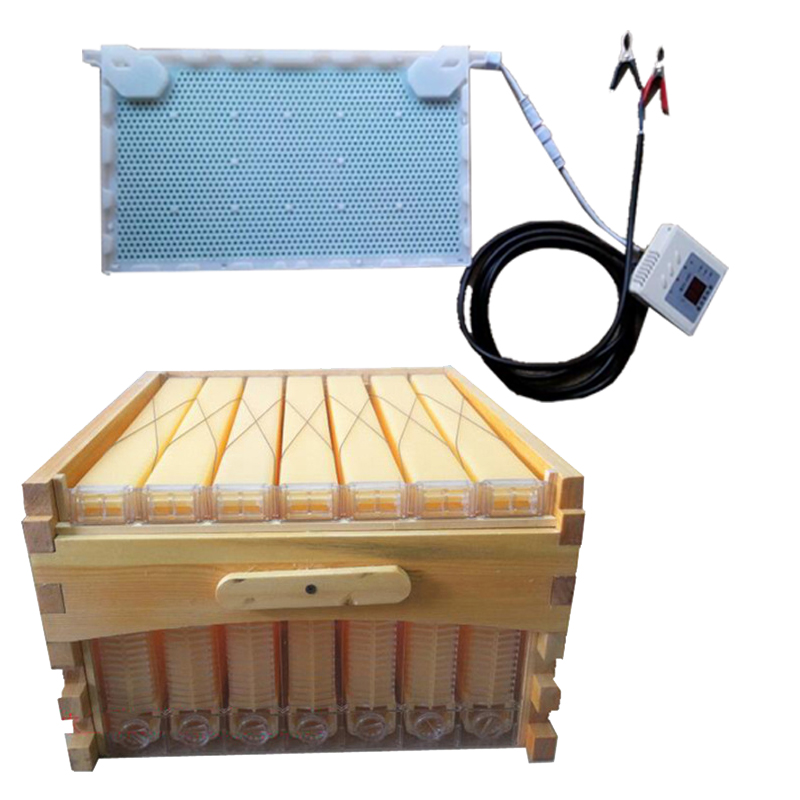 Free ship automatic honey flow hive honeycomb 7 frames with super box beehives intelligent physical acaricidal instrument kits 8 frames reversible electric honey extractor