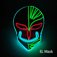 2018 New EL mask powered by DC 3V for Carnival Party DIY decorations and Grant event shows LED neon mask Mixed color