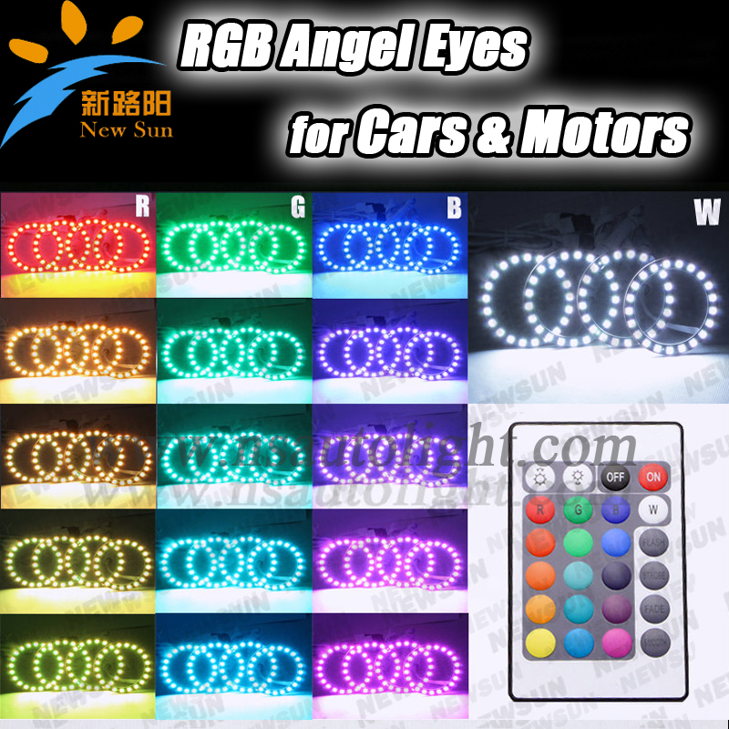 New arrival led ring light RGB led angel eyes for Mazda/Toyota/Infiniti 72mm 75mm full circle color changing angel eyes