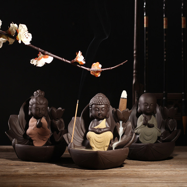 Lotus Flower Backflow Incense Burner