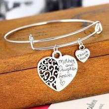 Сердце мать и браслет дочери семья мать подарки женщины любят Женщины Ювелирные изделия Подарки Мама