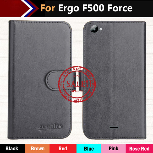 Ergo F500 Force Case Hot!!In Stock 6 Colors Luxury Ultra-thin Leather Exclusive 100% Special Phone Cover Cases+Tracking