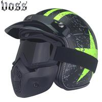VOSS 052 Open Face 3 4 Motorcycle Motorcross Casco Capacete Helmet Scooter Helmet Vintage Retro Motorcycle