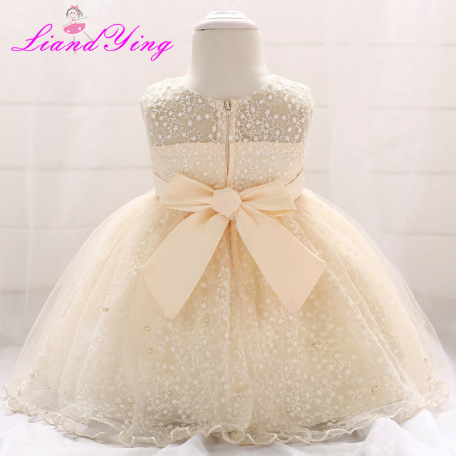 Online Shop New Birthday Baby Dress Baby Girl Christening Gowns Baby ...