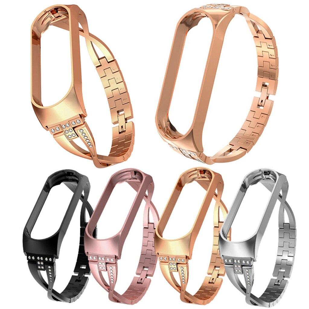 Strap Bracelet Watch Mi-Band Stainless-Steel Xiaomi 4-Diamond for