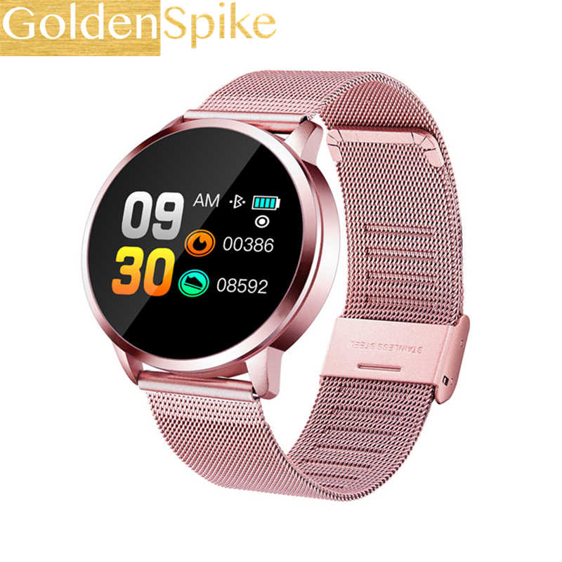Q8 Smart Watch Men Women 2019 Blood Pressure Blood Oxygen Heart Rate Monitor Sports Tracker Smartwatch IP67 Connect IOS Android