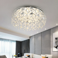 110 220 В светодиодный кристалл современный потолочный светильник белый/теплый освещение для столовой гостиной спальни кухонный металлическ