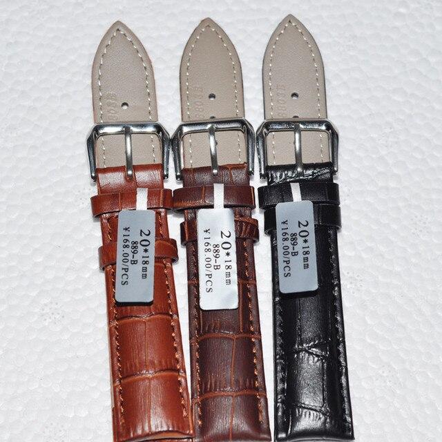 7a644e7fe49b Durable hombres mujeres correa de reloj de cuero genuino para hombres y  mujeres 12 14 16
