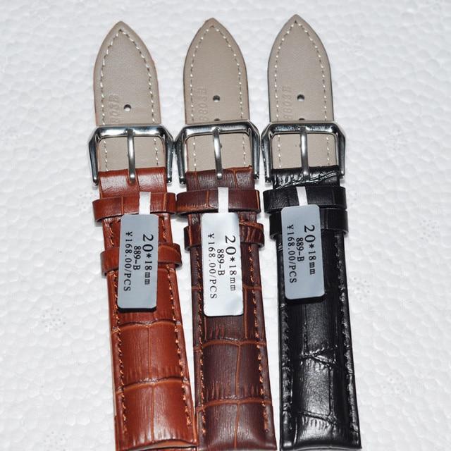 Durable men women Genuine Leather watch strap for men &women 12 14 16 18 20 22 2