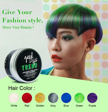 PURC Unisex 9 Colors Temporary Hair Dye Modeling Disposable hair Color Wax Cream DIY No Damage Mud Easy To