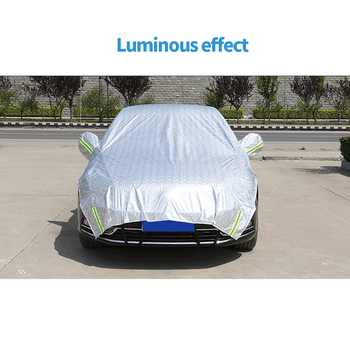 Car Covers Waterproof SUV Auto Sun Proof Shade Reflective Strip Outdoor Rain Protection Universal Half Cover on Car Accessories