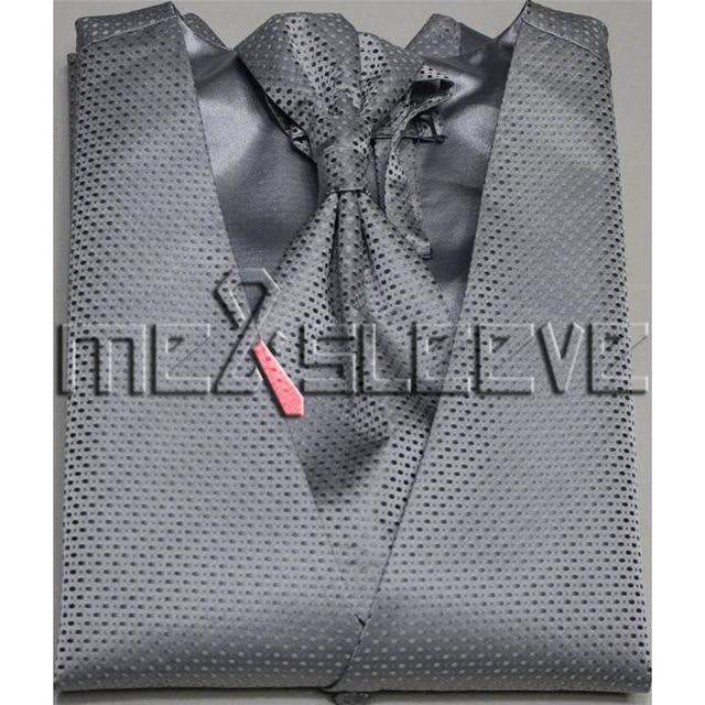 74583e4eb833 Vendita-calda-del-vestito -Smoking-Nuziale-dell-uomo-argento-piccolo-puntino-panciotto-4-pz-vest-ascot.jpg 640x640.jpg