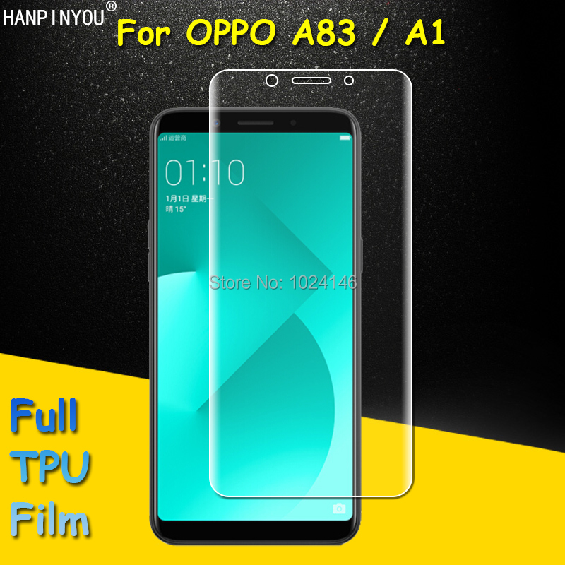 Full Coverage Clear Soft TPU Film Screen Protector For OPPO A83 / A1 5.7 , Cover Curved Parts (Not Tempered Glass)