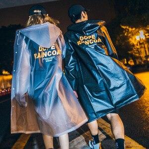 Geekinstyle Street style ins tide marka wodoodporny płaszcz przeciwdeszczowy przezroczyste długie pary zrelaksowany prosty płaszcz przeciwdeszczowy dla dorosłych jeden rozmiar