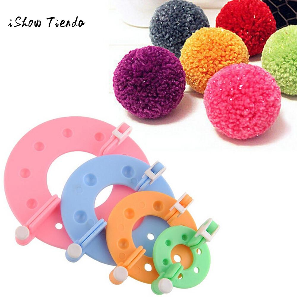 New 4 Sizes DIY Pompom Maker Fluff Ball Weaver Needle Craft Knitting