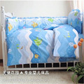 Baby Boy Bedding Set baby bedding set for boy/girl 100% cotton pink purple blue green soft and comfortable bedsheet set