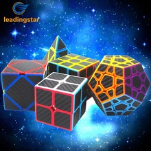 Leadingstar  2nd and 3rd Pyraminx Pyramid Megaminx Skewb Carbon Fiber Sticker Speed Magic Cube Puzzle Toy for Intelligence zk30