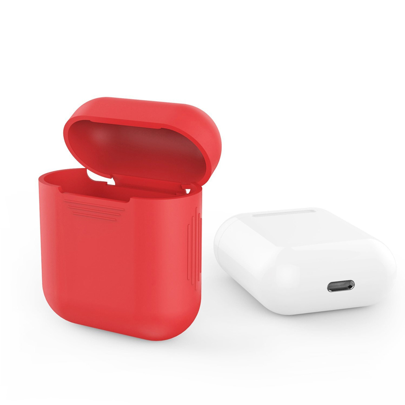 JINSERTA Case For Apple Airpods Air Pods Silicone Shock Case Protective Cover Pouch Anti Lost Protector Accessories