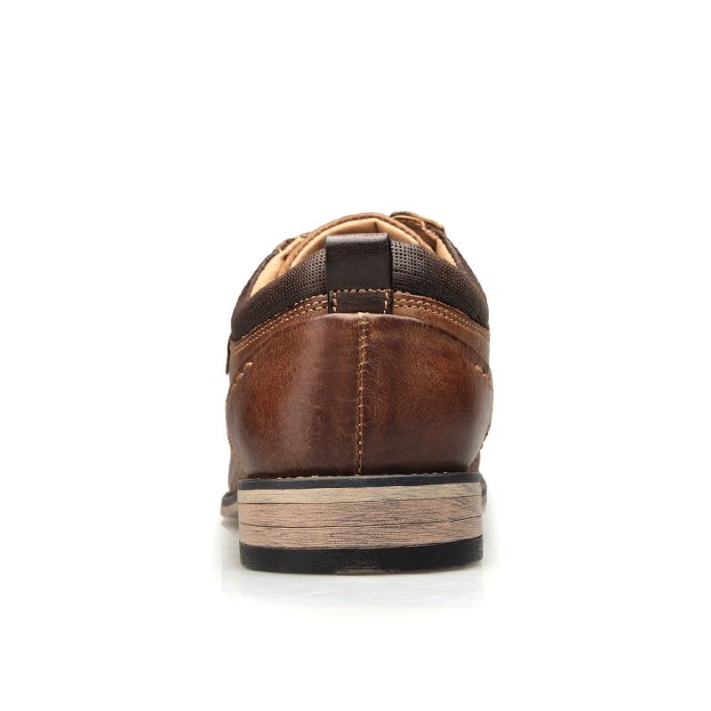 Plus Negócios Marrom Flats Superior De Estilo Marca 50 Vestido Size Britânico Oxfords Dos Formais Qualidade Sapatos Sapatas Couro Homens Genuíno CqwRavxxHF